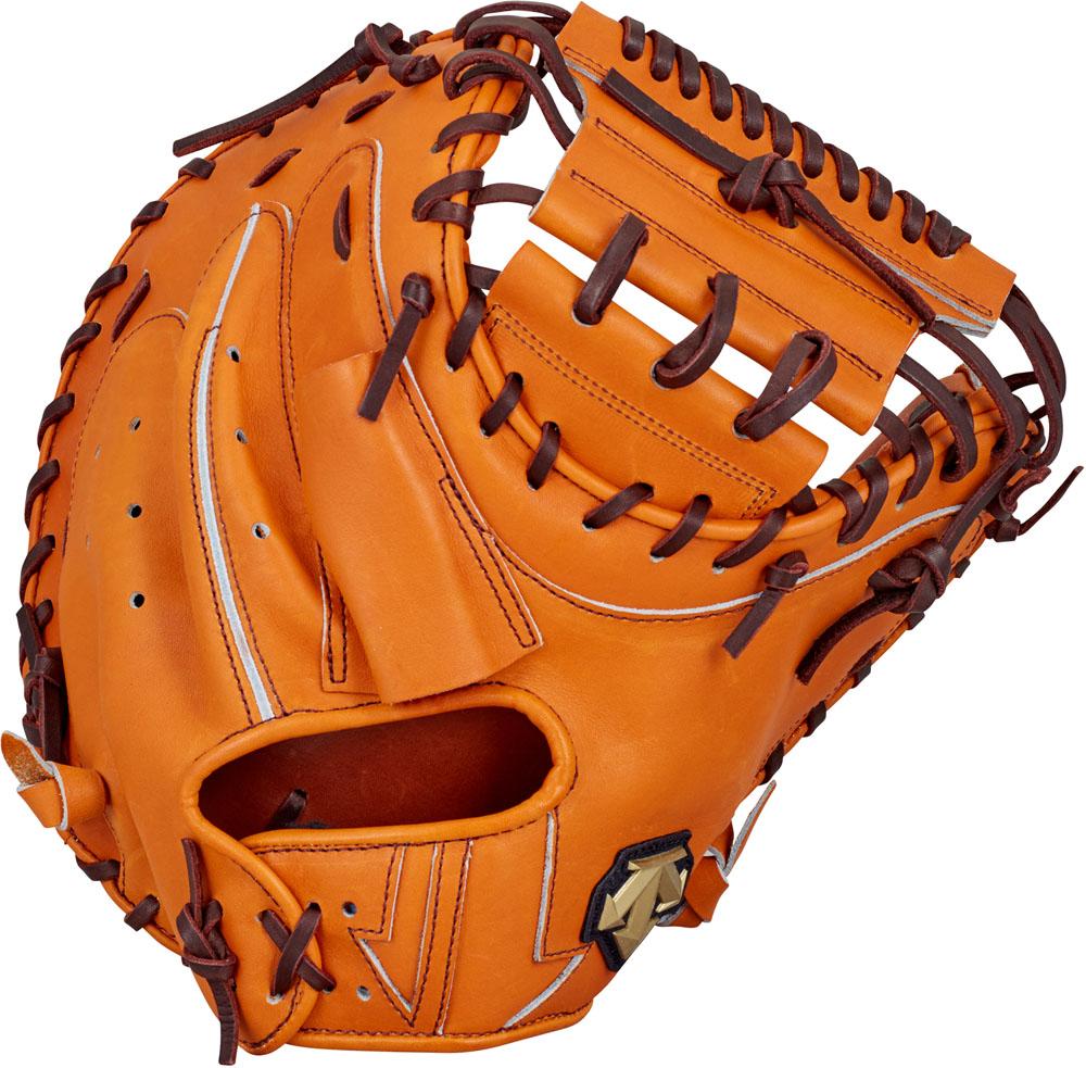 デサント(DESCENTE) 硬式野球用グラブ キャッチャーミット 捕手用 オレンジ