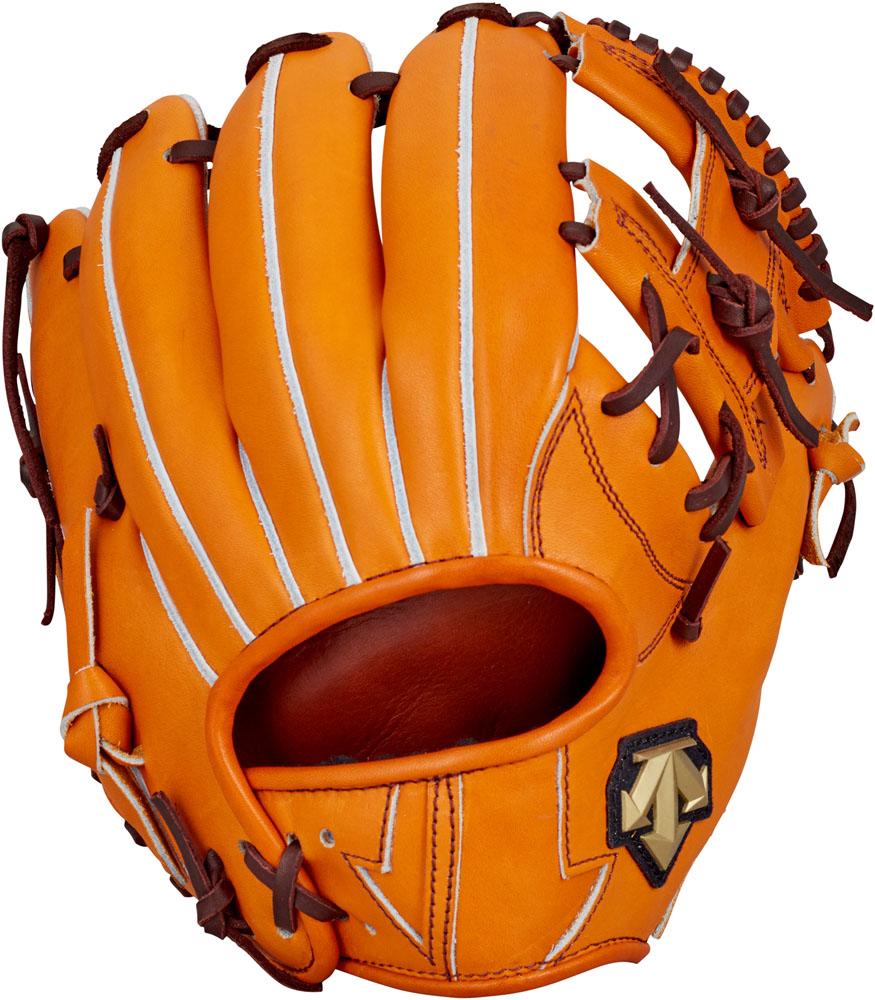 デサント(DESCENTE) 硬式野球用グラブ セカンド・ショート用 オレンジ
