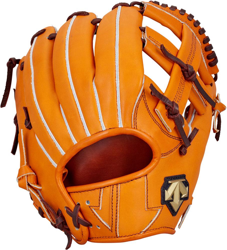 デサント(DESCENTE) 硬式野球用グラブ サード用 オレンジ