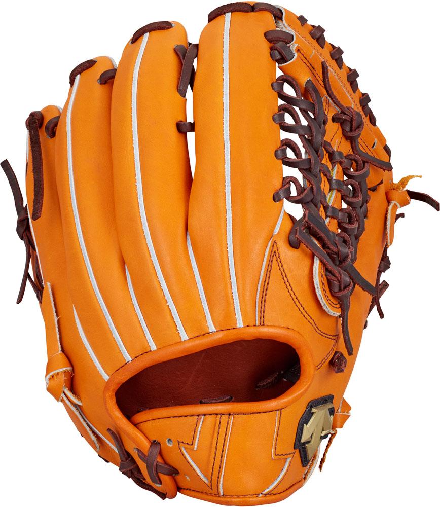 デサント(DESCENTE) 硬式野球用グラブ 外野手用 オレンジ