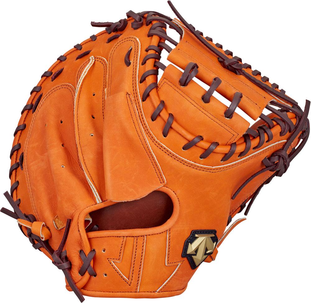 デサント(DESCENTE) 軟式野球用グラブ キャッチャーミット 捕手用 オレンジ