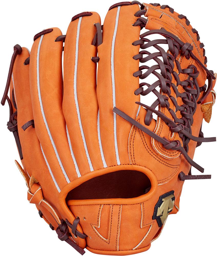 デサント(DESCENTE) 軟式野球用グラブ 外野手用 オレンジ