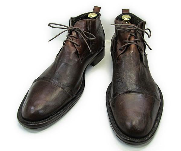 【中古】【送料無料】GINO ROSSI (ジノロッシ)40 (約25.5-26.0cm) チャッカブーツYALAKU-ヤラク-メンズビジネスシューズ・紳士靴