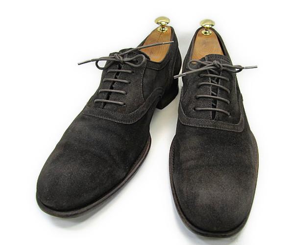 【中古】【送料無料】n.d.c43 (約28.0~28.5cm) ITALY製 スエードプレーントゥYALAKU-ヤラク-メンズカジュアルシューズ・紳士靴