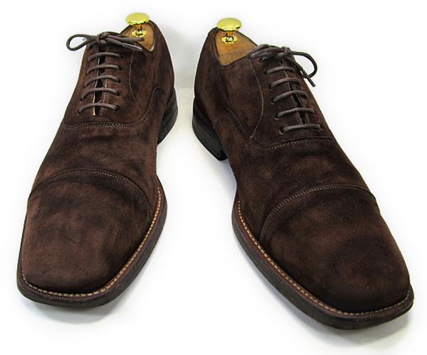 【中古】【送料無料】Dieter Kuckelkorn (ディタークッケルコーン) 10 (約28.0-28.5cm) ドイツブランド スエード製ストレートチップYALAKU-ヤラク-メンズビジネスシューズ・紳士靴