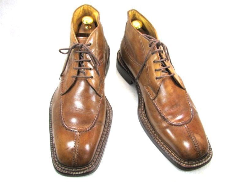 1959年創業、ダリオ・ドドーニ42 1/2 ( 約26.5-27.0cm)イタリア・ベロナ 高級シューブランドショートブーツ♪YALAKU-ヤラク-メンズカジュアルブーツ・紳士靴【中古】【送料無料】【靴】