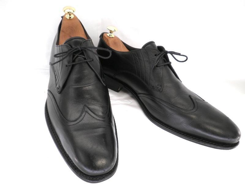 Artigiano アルティジャーノ約27.5-28.0cm イタリア製・ロングノーズウイングチップ♪YALAKU-ヤラク-メンズビジネスシューズ・紳士靴【中古】【送料無料】【靴】