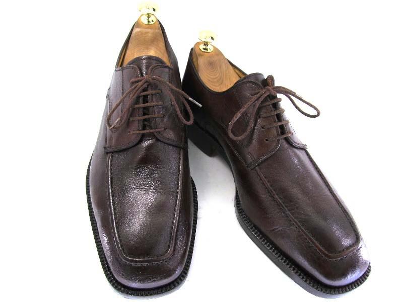 【中古】【送料無料】inglese 7 約25.0-25.5cm イタリア製・Uチップ♪YALAKU-ヤラク-メンズビジネスシューズ・紳士靴