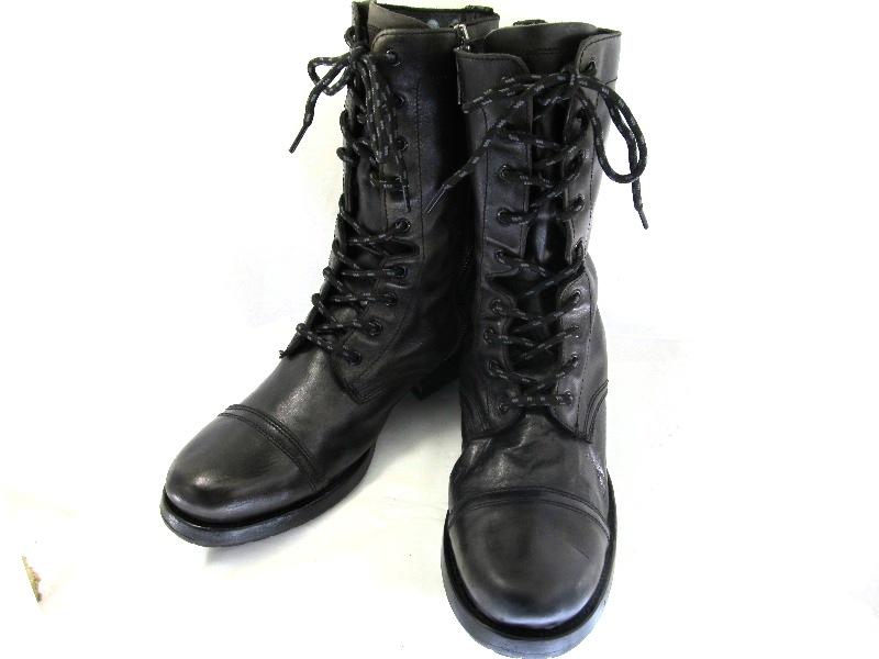 LAINTS ロインツ 約27.0-27.5cm オランダ ダークグレー 編上げブーツ♪YALAKU-ヤラク-メンズブーツ・紳士靴【中古】【送料無料】【靴】