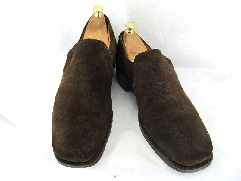 CHEANEY チーニー イングランド8 (約26.5-27.0cm)スエードスリッポン♪YALAKU-ヤラク-メンズビジネスシューズ・紳士靴【中古】【送料無料】【靴】