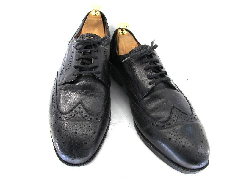 【中古】【送料無料】K SHOES ケーシューズ 英国製・グッドイヤー製法 44 (約26.5-27.0cm)ENGLAND ウイングチップ♪YALAKU-ヤラク-メンズビジネスシューズ・紳士靴