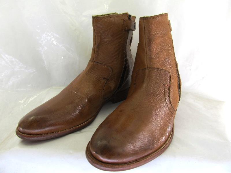 【中古】【送料無料】Dune  42 (約26.0-26.5cm) サイドジップ  ショートブーツ♪YALAKU-ヤラク-メンズカジュアルブーツ・紳士靴