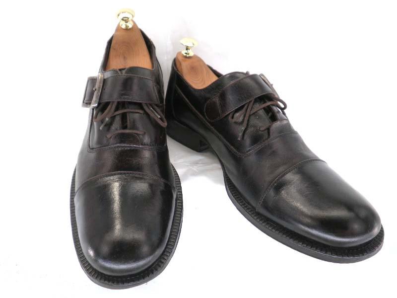 【中古】【送料無料】KENNETH COLE ケネスコール約27.5~28.0cm イタリア製モンク・ストレートチップ♪YALAKU-ヤラク-メンズビジネスシューズ・紳士靴