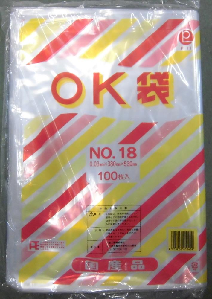 百貨店 規格袋 OKポリ袋 NO.180.03×380×5301箱500枚100枚×5袋 オーバーのアイテム取扱☆