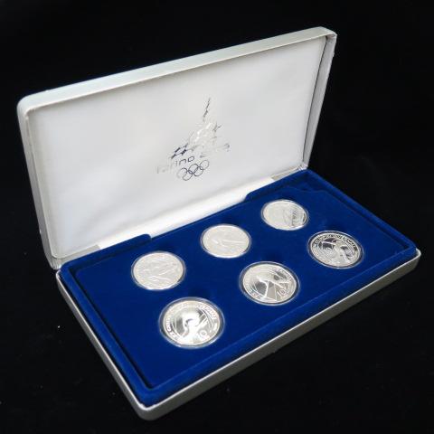 【 現品限り 】トリノ冬季オリンピック記念 プルーフ銀貨6点セット 2006年【 イタリア 】