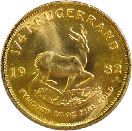 【金貨】 クルーガーランド金貨 1/4オンス 1982年 南アフリカ【22金】