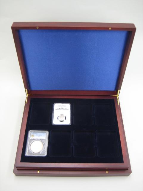 【スラブ収納】 ライトハウス社 木製 コイン 収納ケース PCGS・NGC スラブ用 24枚収納 【コインケース】