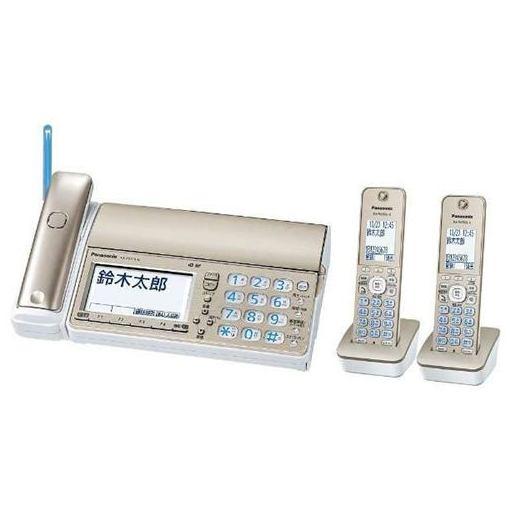 パナソニック KX-PZ710DW-N デジタルコードレス普通紙FAX 「おたっくす」 (子機2台付き) シャンパンゴールド