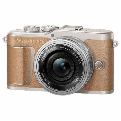 オリンパス EPL9-LKIT-BRW デジタル一眼カメラ「OLYMPUS PEN E-PL9」14-42mm EZレンズキットブラウン