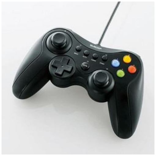 ゲームパッド 即納最大半額 エレコム セール開催中最短即日発送 PC 有線 JC-U3613MBK Xinput対応 ブラック