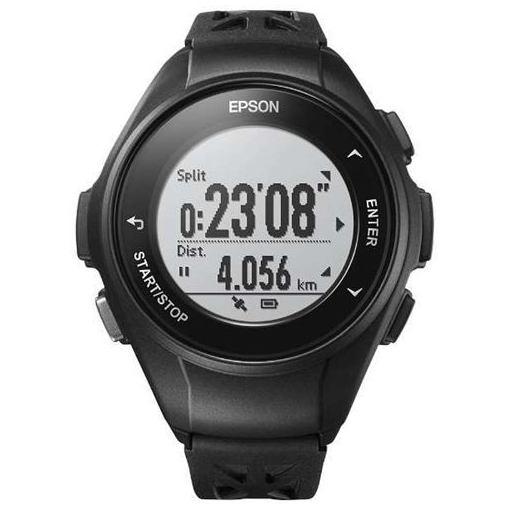 エプソン Q-10B GPSランニングウオッチ 「Wristable GPS(リスタブルGPS)」 ブラック
