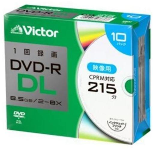 Victor(ビクター) VHR21HP10J2 一回録画用 DVD-R DL 8倍速 プリンタ対応 10枚 ケース入り