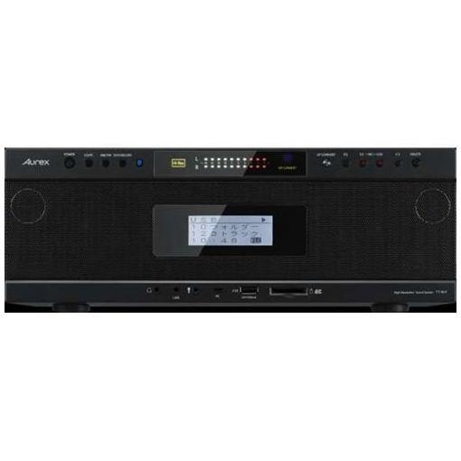 東芝 TY-AH1(K) 【ハイレゾ音源対応】 Aurexシリーズ ワイヤレス再生対応SD/USB/CDラジオカセットレコーダー ブラック