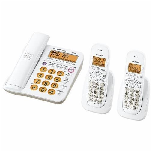 【ポイント10倍!4月9日(火)20:00~4月16日(火)1:59まで】シャープ JD-G56CW デジタルコードレス電話機(子機2台) ホワイト系