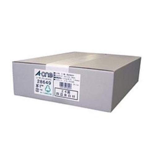 エーワン 28649 ラベルシール レーザープリンタ ( A4 / 24面 / 四辺余白付 / 500シート ) ホワイト