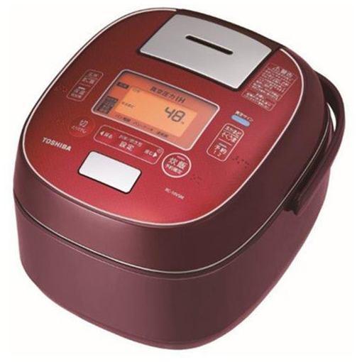 東芝 RC-10VSM-RS 真空圧力IH炊飯器 「鍛造かまど銅釜」 5.5合炊き ディープレッド