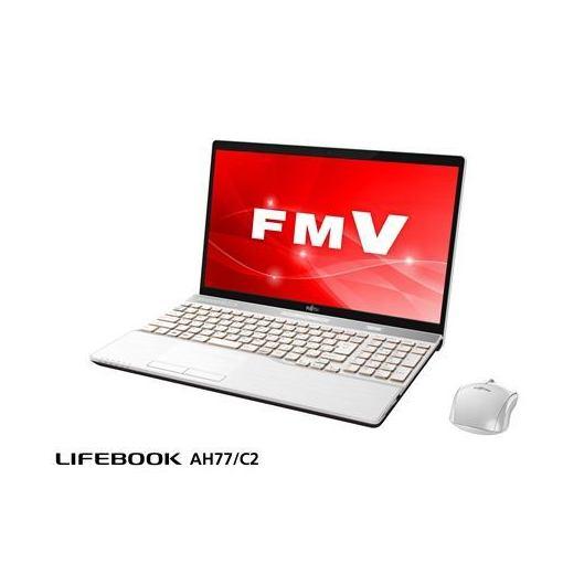富士通 FMVA77C2W ノートパソコン FMV LIFEBOOK AH77/C2 プレミアムホワイト