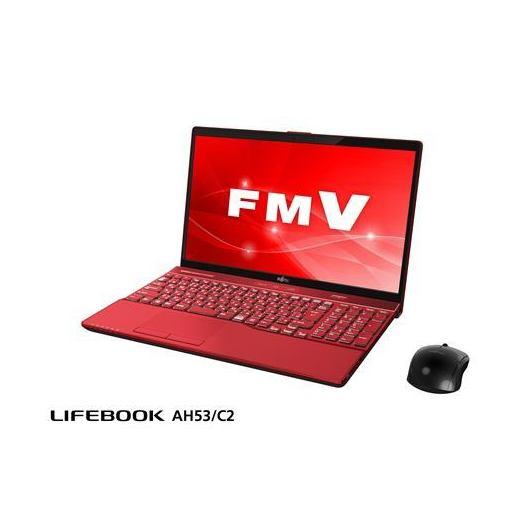 富士通 FMVA53C2R ノートパソコン FMV LIFEBOOK AH53/C2 ガーネットレッド
