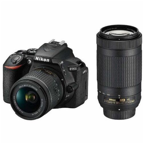 【全品ポイント10倍】ニコン D5600-W70300KIT デジタル一眼カメラ「D5600」ダブルズームキット