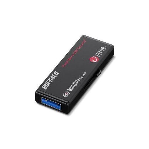 バッファロー RUF3-HS64GTV5 ハードウェア暗号化機能搭載 管理ツール対応 USB3.0対応 セキュリティーUSBメモリー ウイルスチェックモデル 64GB