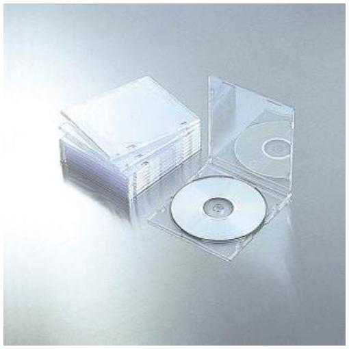 エレコム CCD-JSCS10CR Blu-ray DVD CDケース 1枚収納 大注目 PS 安い クリア スリム