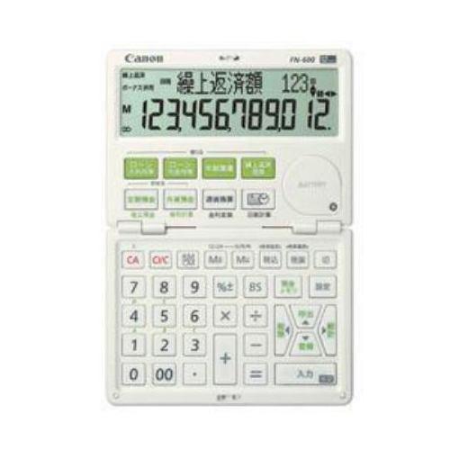 キヤノン FN-600-W 金融電卓 12桁