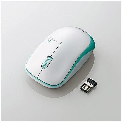 マウス エレコム 無線 ワイヤレス M-IR07DRGN 無線IRマウス 3ボタン グリーン