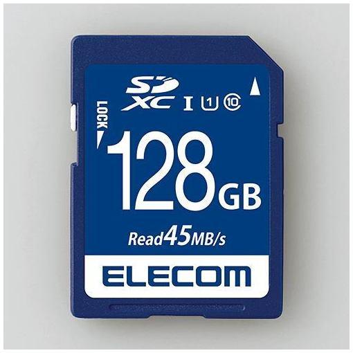 エレコム MF-FS128GU11R 代引き不可 データ復旧SDXCカード U1 UHS-I おしゃれ 128GB