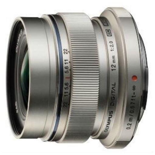 オリンパス 交換レンズ M.ZUIKO DIGITAL ED 12mm F2.0 (マイクロフォーサーズマウント) シルバー