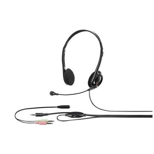 ヘッドセット 再再販 バッファロー YDHSHCS100BK 両耳ヘッドバンド式ステレオヘッドセット 至高 ブラック