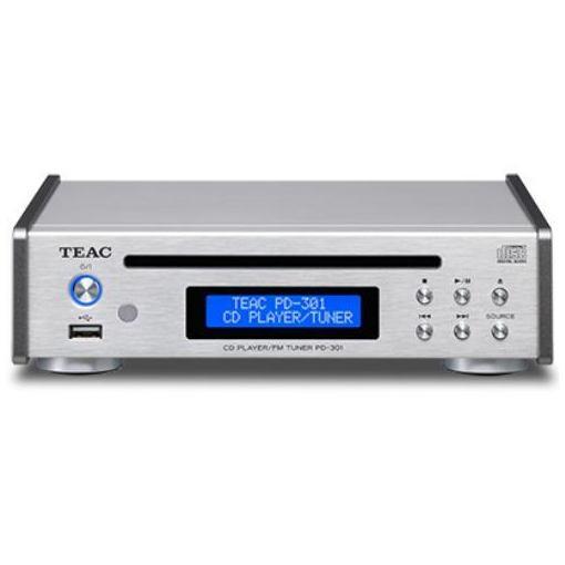 ティアック PD-301-S USB搭載ワイドFM対応CDプレーヤー(シルバー)