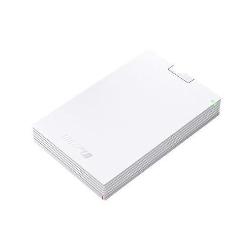 バッファロー HD-PCG2.0U3-GWA ミニステーション USB3.1(Gen1)/USB3.0 ポータブルHDD 2TB ホワイト