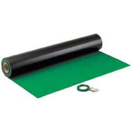 HOZAN 導電性カラーマット 1×10M グリーン 補強繊維入り