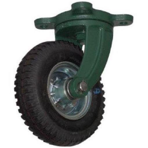 TRUSCO 鋼鉄製運搬車用空気タイヤ 鋳物金具自在Φ223(2.50-4)