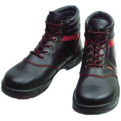 【ポイント10倍!10/5(金)20時~10/11(木)1:59まで】シモン 安全靴 編上靴 SL22-R黒/赤 24.5cm