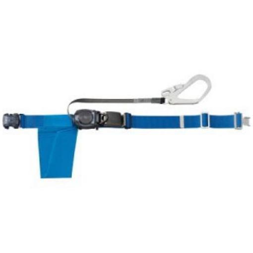 TRUSCO 巻取り式安全帯1本つり専用 幅50mmX長さ1200mm ブルー
