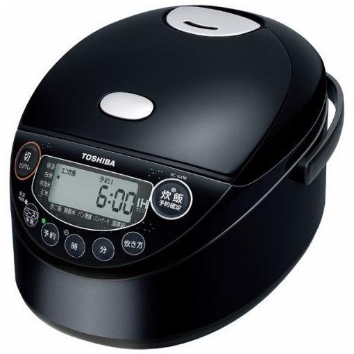 東芝 RC-6XM-K IH炊飯器 備長炭鍛造かまど釜 3.5合炊き ブラック