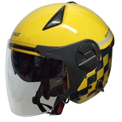 石野商会 RN-999W RENAULTダブルシールドジェットヘルメット RENAULTMOTORCYCLE 57cm~60cm未満 イエロー
