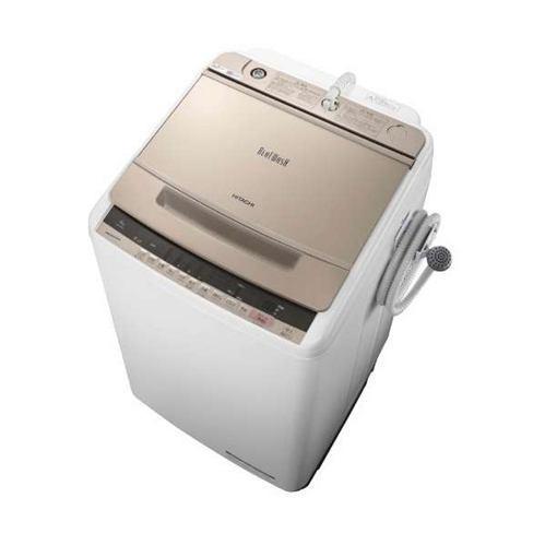 【無料長期保証】日立 BW-V80C-N ビートウォッシュ 全自動洗濯機 (洗濯8.0kg) シャンパン