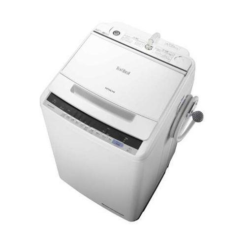 【ポイント10倍!】【無料長期保証】日立 BW-V80C-W ビートウォッシュ 全自動洗濯機 (洗濯8.0kg) ホワイト